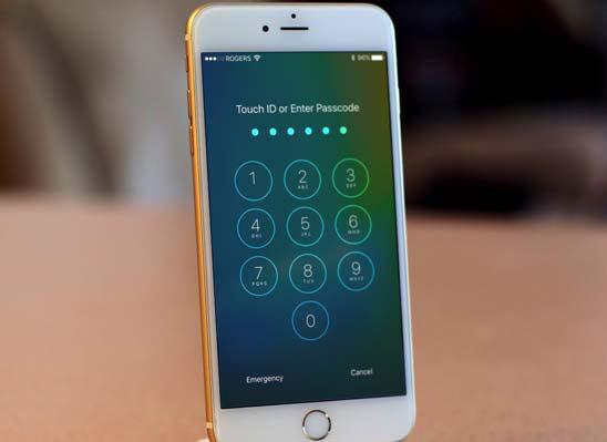 set passcode on iphone 8